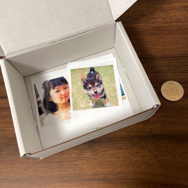 箱に入れただけのトレカサイズ写真
