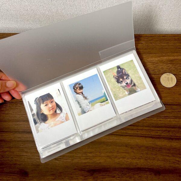 トレカ用のファイルに入れたトレカサイズ写真