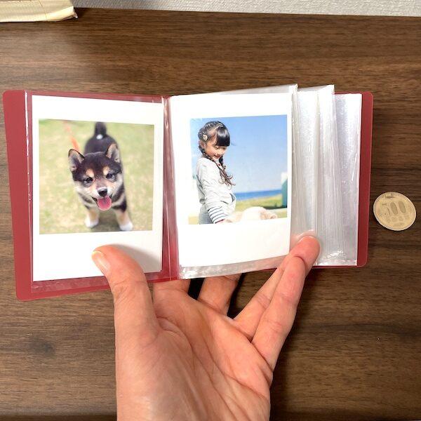小さなトレカ用のファイルに入れたトレカサイズ写真