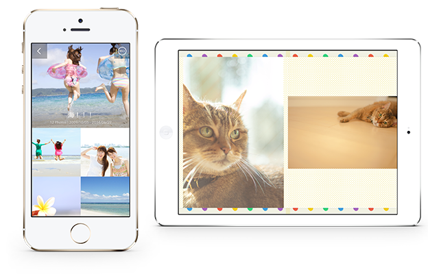 iPhone・iPadアプリさくっとアルバムプレビュー画面